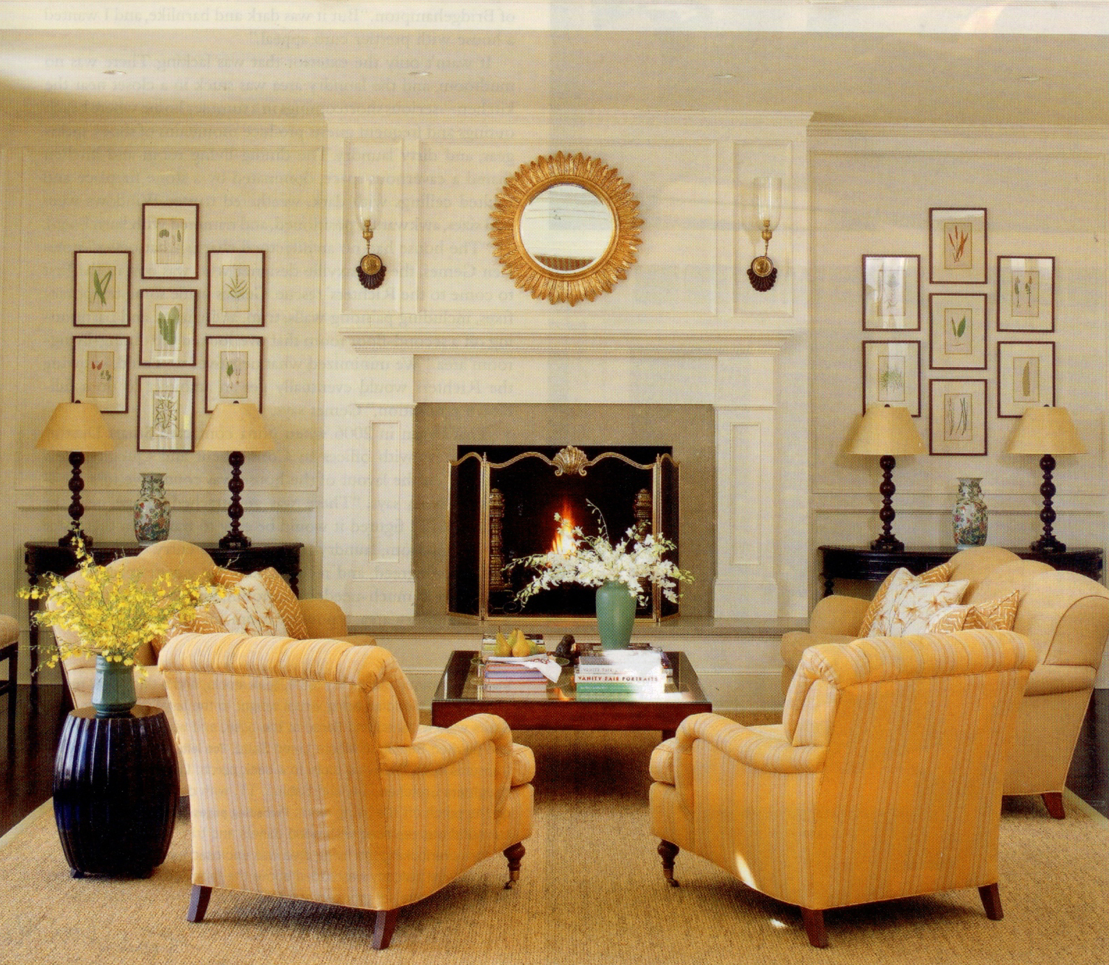 How to staging a mantel prep home staging for Family room furniture layout tv fireplace