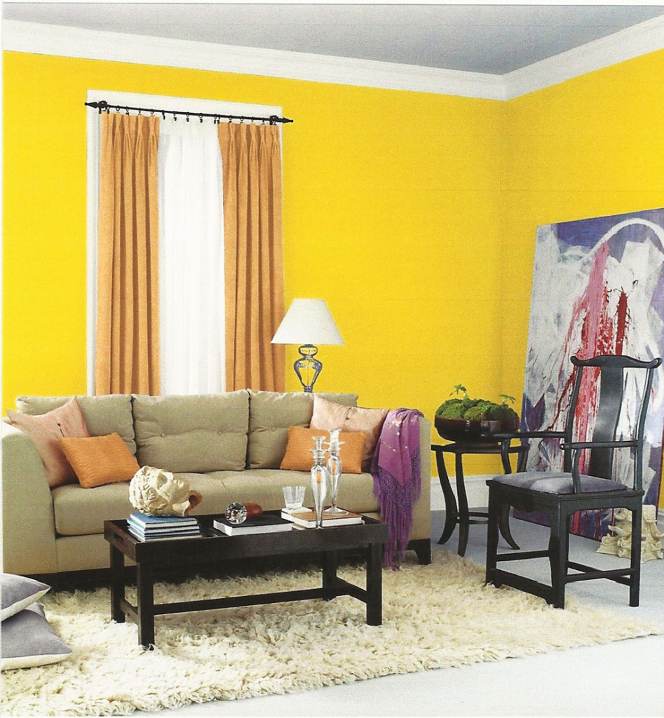 Colours that dominate a room are bad choices for staging